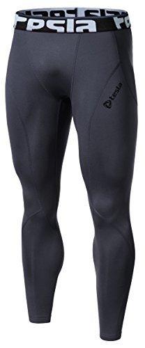 Tesla TM-P33-DGZ_Small J-DEM Men's Thermal Wintergear Compression Baselayer Pants Leggings Tights P33