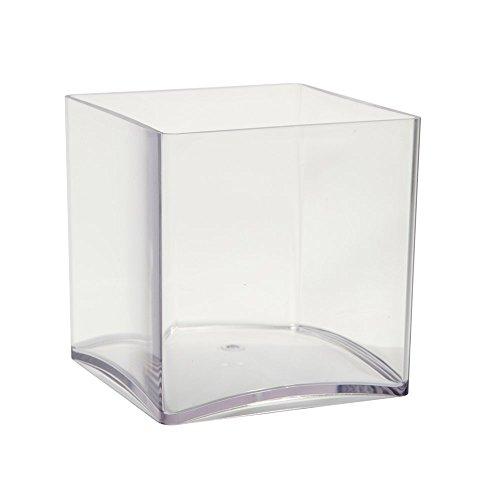 Oasis® Transparente Acryl Vase Cube (15cm), farblos, 2er-Pack