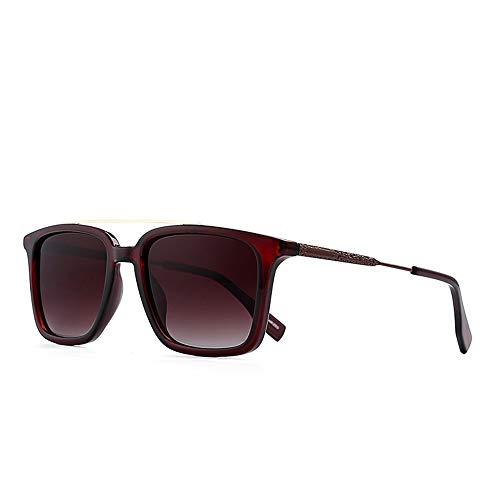 JKHOIUH Gafas de Sol Estilo Retro clásicas cuadradas para Viaje, Unisex, polarizadas, protección UV 400 para Mujeres y Hombres Diseño de Moda clásico de Alta Gama, protección UV (Color : C2)