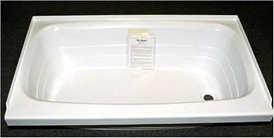 "Kinro Composites Lippert 209678 ABS Acrylic Bathtub with Right Drain - 24"" x 40"", White"
