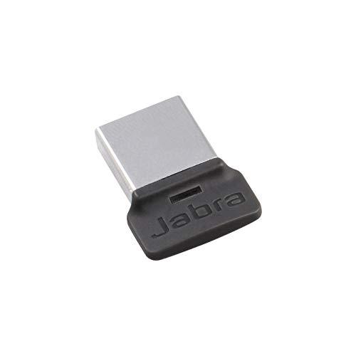 Jabra Link 370 USB A Bluetooth Adapter MS – für Jabra Headsets – 30 Meter Funkreichweite – Optimiert für Microsoft – Schwarz