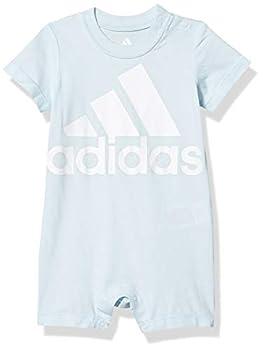 adidas Baby Boys Shortie Cotton Romper Light Blue 6 Months
