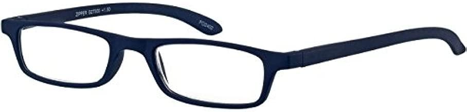 I NEED YOU Rectangular Reading Glasses Red Zipper Designer Frames For Men & Women With Spring Hinge And Plastic Lenses - Prescription Eyewear With Power +2.0