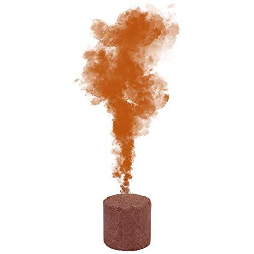 Bombas de humo de color AKlamater, color humo efecto muestra bombas redondas, accesorios de fotografía de humo, fabricante de cigarrillos, bodas, Halloween, accesorios (naranja)