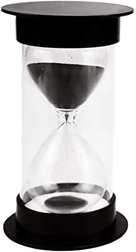 砂時計5分/ 10分/ 15分/ 20分/ 30分/ 45分/ 60分学校、キッチン、家の装飾のためのクッキングゲーム練習砂時計タイマー (黒, 15分)