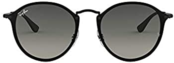 Ray-Ban Blaze Gradient Dark Grey Round Sunglasses (RB3574N 153/11 59)
