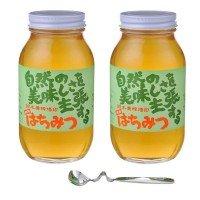 鈴木養蜂場 はちみつ 大瓶2本セット(菜の花1.2kg、レンゲ1.2kg、はちみつスプーン) 0306974