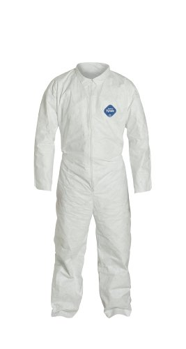 DuPont Tyvek 400 TY120S Disposable Protective Coverall, White, 3X-Large (Pack of 6)