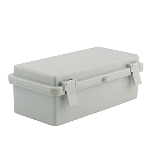 Sunnyglade ABS Plastic Dustproof Waterproof IP65 Junction Box Universal Durable Electrical Project Enclosure With Lock (3.9x7.9x2.8)