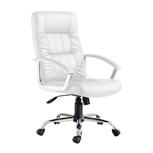 Cadeira de Escritório Presidente Giratória Office Plus Branca