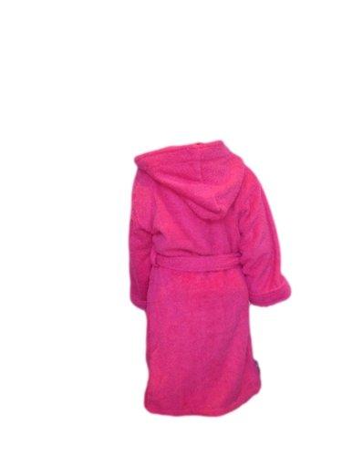 AJ Towelling Peignoir à capuche pour enfant 12 ans Cerise