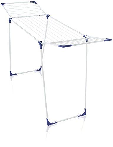 Leifheit Standtrockner Classic 200 Solid standfester Wäscheständer mit 20m Trockenlänge für 2 Waschmaschinenladungen, für drinnen und draußen, mit Flügeln für lange Wäsche