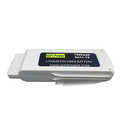 Mintuse Upgraded 11.1V 7500mAh Rechargeable Lipo Battery for Blande Chroma RC Drone Spare Part (White)