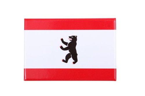 City Souvenir Shop Magnet Kühlschrankmagnet Berliner Flagge mit Wappen