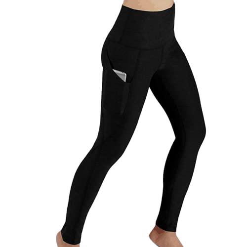 Pantalones de Yoga para Mujer de Color sólido de Moda, Pantalones de Cintura Alta para el Vientre, Flexiones, Entrenamiento de Cadera, Pantalones Deportivos para Celulitis I L