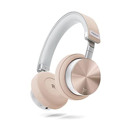 VONMÄHLEN Wireless Concert One - Auriculares Inalámbricos Bluetooth de Diadema - Cascos de Diseño sobre la Oreja con Estuche de Viaje, Cable Micro USB, Auxiliar y Organizador de Cables - Oro R