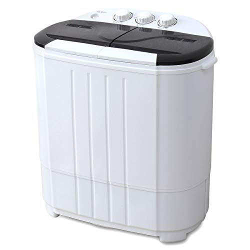 WEIMALL 洗濯機 3.6kg 二槽式洗濯機 一人暮らし タイマー 二層式 コンパクト 小型 (ブラック)