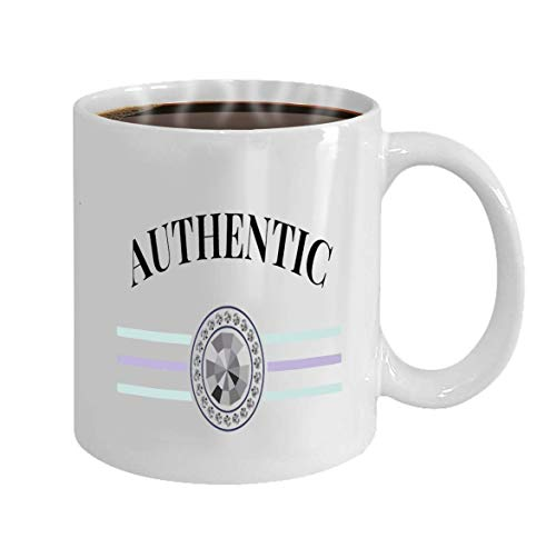 Taza Personalizada - Taza De Café - Regalos Personalizados - 11Oz Lema De La Taza De Té Blanco Frase Auténtica Estampado Gráfico Moda Lette