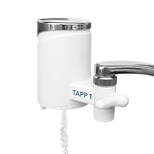 TAPP Water TAPP 1 - Filtre à eau pour la cuisine - Élimine le chlore, les sédiments, la rouille, les nitrates, les pesticides - Système de filtration pour robinet
