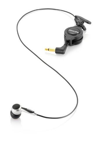 Philips LFH9162 Mikrofon zum Mitschneiden von Handyaten, 3.5 mm, Kabellänge 1.1 m, Adpater 2.5 mm, auf 3.5 mm, schwarz