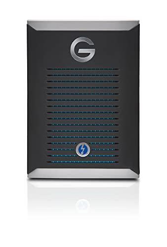 SanDisk Professional G-DRIVE PRO SSD 500 GB, SSD NVMe esterno portatile ultra-resistente, fino a 2800 MB/s, Thunderbolt 3 (40 Gbps)