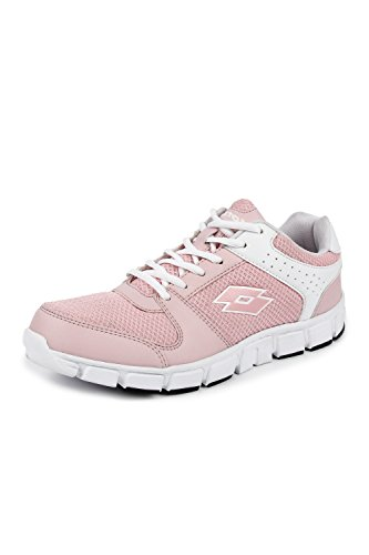 Lotto Women's Sancia White/Nude Pink Running Shoes - 6 UK/India (40 EU) (AR4727-151)