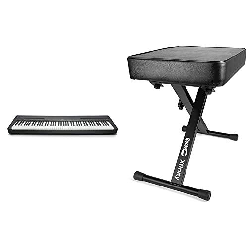 YAMAHA P-45B Digital Piano - Light and Portable Piano for Hobbyists and Beginners, in Black &...