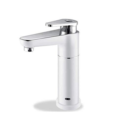FUYY Grifo De Agua Caliente Instantáneo De 3,5 KW, Grifo De Calentador De Agua Eléctrico Sin Tanque De 240 V para Baño, Cocina,White