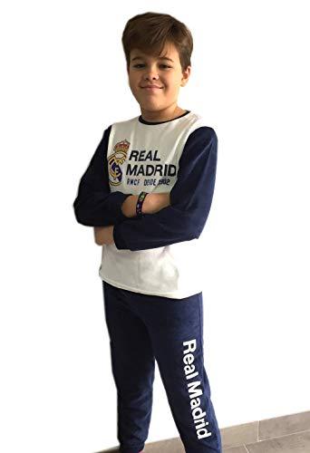 Pijama Real Madrid niño Invierno Terciopelo Tallas 6 a 16 (6)