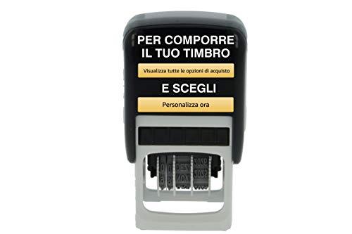 Timbro Datario Personalizzato Autoinchiostrante 2 Righe più Data Scegli e Componi Online il Testo Colop Printer 52-Dater Ufficio Scuola Lavoro