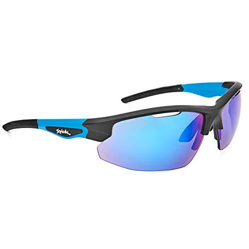 Spiuk Sportline Gafas Ciclismo Rimma, Adultos Unisex, Negro/Azul, Unico
