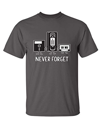Never Forget Funny Retro Music Mens Novelty Funny T Shirt M Charcoal