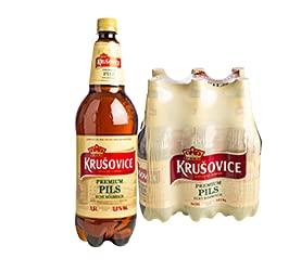 6 x 1,5 l Krušovice Pils 5,0% Beer Cerveza Bier 9 Liter Maxi Bottle Royal