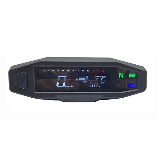 Dcolor Tacómetro digital universal para motocicleta con pantalla LCD,contador de carburador,contador de kilómetroscon sensor