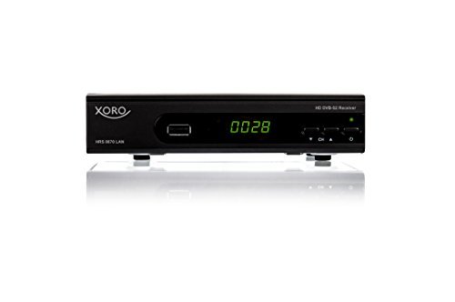 Xoro HRS 8670 LAN Digitaler Satelliten-Receiver (HDTV, DVB-S2, HDMI, SCART, SAT-IP Server, Live-Stream, PVR-Ready, 2x USB 2.0) schwarz