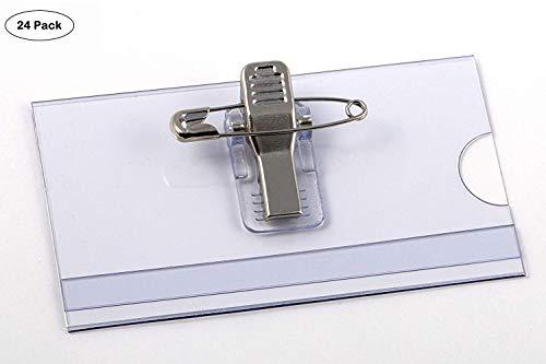 OPUS 2 Namensschilder 75x40 mm mit Clip und Nadel, 24 Stück