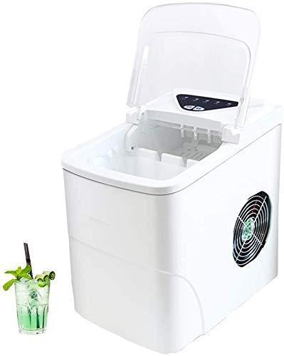 Chunjiao Máquina de fabricante de hielo, máquina de hielo eléctrico de encimera portátil, operación Silenceasy, 33 lbs hielo en 24 horas, puede elegir el tamaño del cubo de hielo, para la familia, la