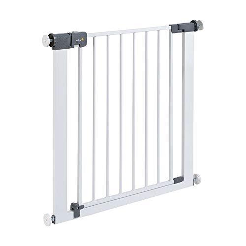 Safety 1st Quick Close ST Treppenschutzgitter extra sicheres Metall-Türschutzgitter zum Klemmen, ohne Bohren, 73 - 80 cm (ab ca. 6 - 24 Monate), weiß