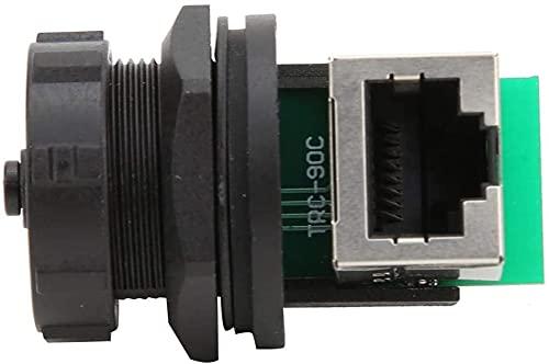 U-K 2 adaptadores RJ45 Ethernet LAN RJ45-90 u0026 grados; adaptador de doble cabezal hembra para conexión de cable exterior duradero y práctico diseño