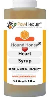 PawHealer Hound Honey: Heart Syrup Herbal Remedy for Dog's Cough - 5 fl oz - Suppressant - Herbal Remedy - Gagging & Wheezing Due to Heart Condition
