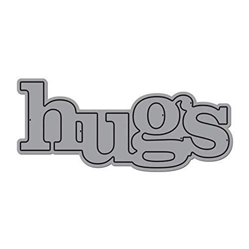 Nieuwe woorden Hugs Cutaways Metaal snijden Dies Stencils DIY Scrapbooking Album Kaart maken Embossing Papier Ambachten Diecuts, Snijden Dies