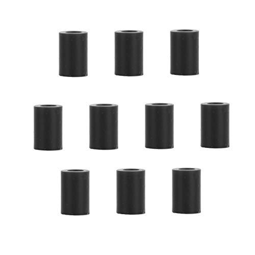 Fietskabel beschermhoes 10 STKS RC120 siliconen klein formaat, voor fiets, om te rijden(black)