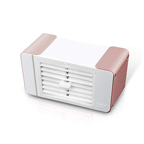 Mallb USB-laadstation mini-ventilator bureaulamp koeling stille desktop elektrische ijs kristallen kleine koeler 18.5 * 10 * 8.8cm roségoud