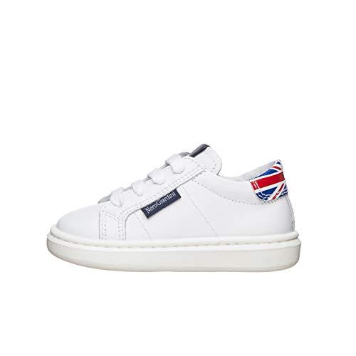 Nero Giardini E023801M Sneakers Kids da Bambino in Pelle - Bianco 24 EU