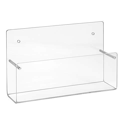 Din A6 Wandprospekthalter/Postkartenhalter im Querformat aus Acrylglas