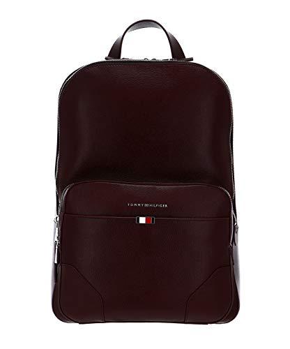 Tommy Hilfiger Business Leather Backpack Chestnut