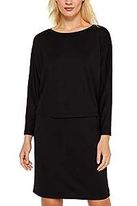 ESPRIT Damen 129Ee1E037 Kleid, Schwarz (Black 001), Large (Herstellergröße: L)