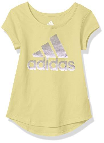 adidas Girls' Short Sleeve Scoop Neck Tee T-Shirt