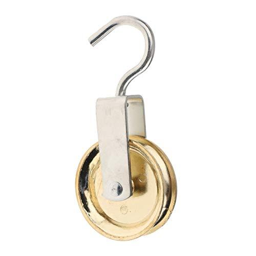 HarmonyHappy Haken Flaschenzug Seilrolle Riemenscheibe Roller Umlenkrolle mit Wirbel drehbar - Silber 60mm