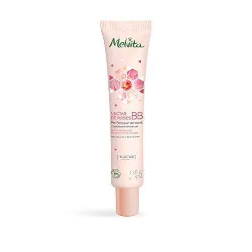 Melvita - BB crème claire certifiée bio Nectar de Roses - Hydrate et unifie le teint - Couvrance naturelle - Sans silicone - Certifié bio, naturel à 99% - Tube 40ml